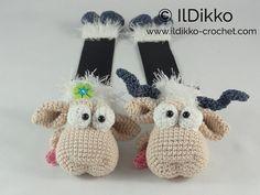 Amigurumi Crochet Pattern Baarney and Baarn the Sheep