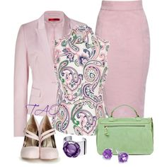 Pink Suit by tishaod on Polyvore