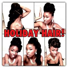 VALENTINES / HOLIDAY HAIR TUTORIAL- Fast Short Hair Style ideas for Natural Hair
