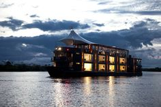 This five-star floating hotel, called Aria, along with its sister ship the Aqua, cruise along the Amazon River in Peru and offer the journey of a lifetime! The ship was custom built by architect Jordi Puig to offer all the luxuries of a standard, non-floating 5-star hotel.