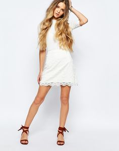 Hollister+Lace+Mini+Skirt