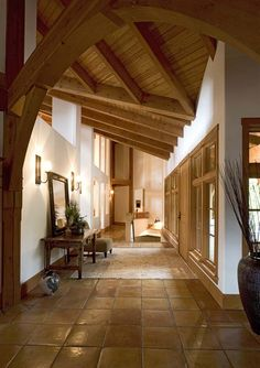 Timber home entryway