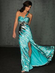 Vestido de fiesta de color Turquesa