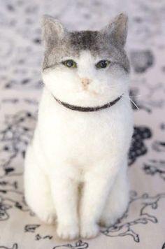 www.lucyfrancismaloney.com #feltedcat
