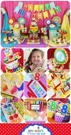 Art Party Printable - Art Birthday - Artist Party - Rainbow Birthday -Huge Party Set by Amanda's Parties TO GO