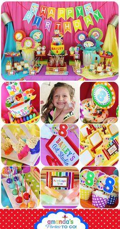 Art Party Printable -Huge Party Set  -Cute art party ideas!
