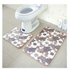 Bathmats Rugs And Toilet Covers 133696 Actopus 2Pcs Leaf Pattern Mat Bathroom Floor