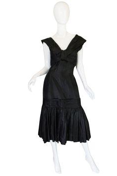 1950s Silk Gazaar Dropped Skirt Suzy Perette Dress