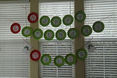 hungry caterpillar birthday banner with plates