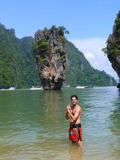 Frédéric Mathieu in James Bond Island- Koh Tapu, Thailand (17/11/2012)