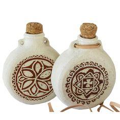 My Handmade Pilgrims Flasks
