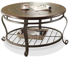 Eastview Round Coffee Table,  Riverside – FrontRoom Furnishings