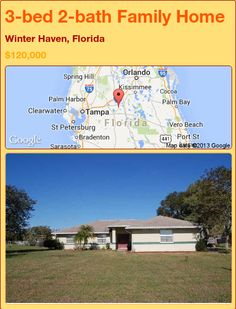 3-bed 2-bath Family Home in Winter Haven, Florida ►$120,000 #PropertyForSale #RealEstate #Florida http://florida-magic.com/properties/93414-family-home-for-sale-in-winter-haven-florida-with-3-bedroom-2-bathroom