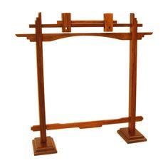 "Gong Stand, Rosewood, Pedestal, 10"" Blem"