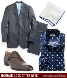 Would YOU rock our Look of the Week? Suit: Tommy HilfigerPocket square: J. CrewShirt: Eton of SwedenShoes: Barneys New York