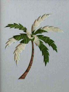 Iris Folding  palm tree #2