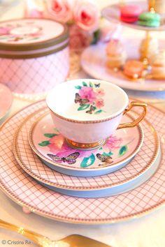 0aa0c69193c CristinaRe  Artist sGarden Table Ware Butterfly Garden. love this. Tea Cup  Set