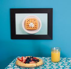 Waffles Print by Cuddles and Rage by CuddlesAndRage on Etsy, $15.00
