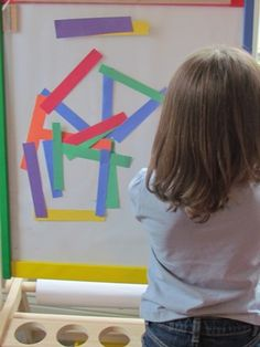 the sticky easel - this is great!! - - Re-pinned by @PediaStaff – Please Visit http://ht.ly/63sNt for all our pediatric therapy pins