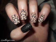 Leopard Nails  fashion cute nails pretty leopard nude design nail art acrylic nails animal print