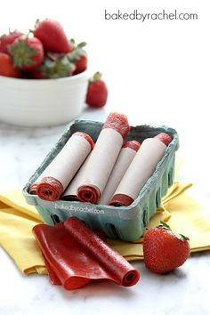 Easy Homemade Strawberry Fruit Leather Recipe. Bet you could do this with plenty of different fruits.