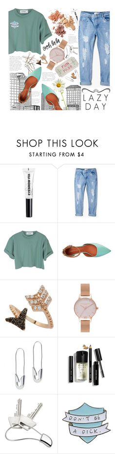 """Lazy Day"" by seashellvibes ❤ liked on Polyvore featuring H&M, MANGO, StyleNanda, Rebecca Minkoff, Bee Goddess, Olivia Burton, Tom Binns, Bobbi Brown Cosmetics and Georg Jensen"