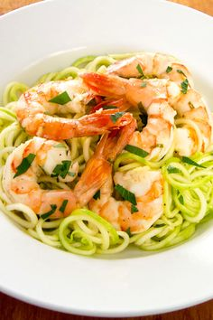 18. Garlic Roasted Shrimp With Zucchini Pasta #paleo #dinner #recipes http://greatist.com/eat/paleo-recipes-easy-and-delicious-dinners