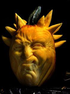 OY! It's Spike the Pumpkin!  Amazing pumpkin carvings by Famous Pumpkin Carver Jon Neill