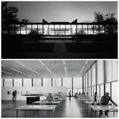 Ludwig Mies van der Rohe (German-American, 1886-1969) | S.R. Crown Hall | IIT Campus (Illinois Institute of Technology) | Chicago Illinois | 1950-56