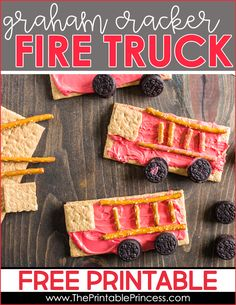 Fire safety week snack and freebie for PreK, Kindergarten, and First grade students! Includes a free download and instructions to make this yummy snack!