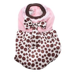 Cute+Dots+Pattern+with+Bowknot+Dress+Skirt+for+Pets+Dogs+(Assured+Colors,+Sizes)+-+USD+$+9.99