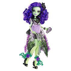 Amanita, con su traje, está lista para la Fiesta Inmortal. Cada 1300 años, florece la flor inmortal y ¡éste es el año! ¿Te unes a las Monster High?