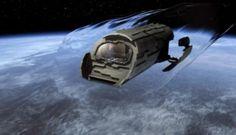 Puddle Jumper from Stargate Atlantis, 2004 to Stargate Atlantis, Stargate Movie, Stargate Ships, Science Fiction, Stargate Universe, Sci Fi Models, Sci Fi Shows, Spaceship Design, Sci Fi Series