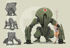 ArtStation - Weekly Sketches #33, Sebastian Luca Animal Robot, Character Concept, Character Art, Zoids, Steampunk, Military Drawings, Arte Robot, Industrial Design Sketch, Dungeons And Dragons Homebrew