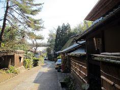 Old street to Otagi-Nenbutsu-ji temple.  — at Saga, Kyoto, December 31, 2011