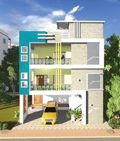 Contemporary designs Single Floor House Design, House Front Design, Modern House Design, 3 Storey House Design, Bungalow House Design, Front Elevation Designs, House Elevation, Town House Plans, Engineering Resume