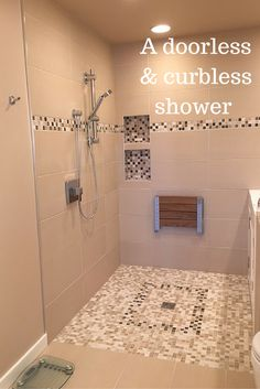 Looking for an aging in place shower design which will work for the lifetime of your home? Learn the advantages of a curbless shower in this article - http://blog.innovatebuildingsolutions.com/2015/12/11/advantages-disadvantages-curbless-walk-shower/