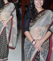 Buy Indian Replica Ethnic Vidya Multi Color Tissue And Viscose Fabric Saree vidya-balan-saree online