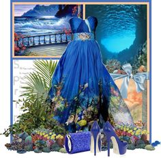 """""""Ocean Blue"""" by garbowvu ❤ liked on Polyvore"""