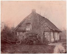 Ferme au toit de chaume, 1850-53.                                             Unknown, French