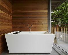 freistehende badewanne rechteckig weiß At-Six Architecture