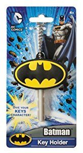 Amazon.com: DC Batman Logo Soft Touch PVC Key Holder: Toys & Games