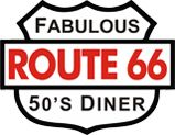 Route 66 Diner in Berlin ... back to the America of the 50s and 60s ...