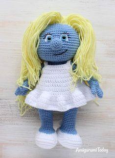 Free Smurfette amigurumi pattern #amigurumi #amigurumidoll #amigurumipattern #amigurumitoy #amigurumiaddict #crochet #crocheting #crochetpattern #pattern #patternsforcrochet