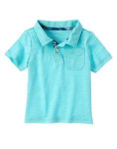 Slub Polo Shirt at Gymboree (Gymboree 6m-5T)