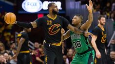#NBA   CLEVELAND, OH - DECEMBER 29: LeBron James #23 of the Cleveland Cavaliers looks for a pass while under pressure from Marcus Smart #36 of the Boston Celtics during the second half at Quicken Loans Arena on December 29, 2016 in Cleveland, Ohio. The Cavaliers defeated the Celtics 124-118. ...(Photo by Jason Miller/Getty Images)