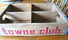 Vintage Towne Club soda pop carrier for sale at More Than McCoy on TIAS!