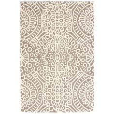 Build a cozy and welcoming sanctuary with this micro-hooked wool rug. Featuring a pattern reminiscent of stained glass on a soothing neutral background, this area rug brings a bit of serenity and spirit to any space it inhabits.