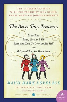 Maud Hart Lovelace (from Minnesota) wrote about little girls growing up in the 40's. Loved them.    Betsy-Tacy (1940)  Betsy-Tacy and Tib (1941)  Betsy and Tacy Go Over the Big Hill (1942)  Betsy and Tacy Go Downtown (1943)  Heaven to Betsy (1945)  Betsy in Spite of Herself (1946)  Betsy Was a Junior (1947)  Betsy and Joe (1948)  Betsy and the Great World (1952)  Betsy's Wedding (1955)