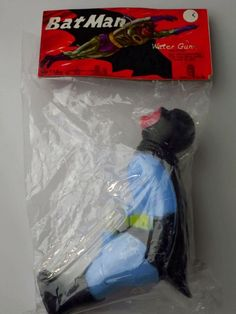 Batman Water Gun Vintage Toy 1960s NRFP Mint Sealed Package with Tag
